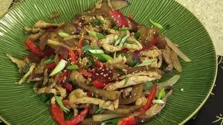 Chinese Chicken & Eggplant Recipe : Chinese Food at Home