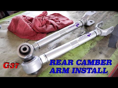 infiniti G37 Rear Camber adjustment arms how to install