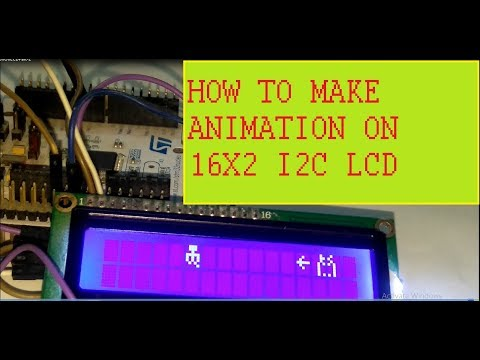Animation on 16x2 I2c LCD USING STM32 Nucleo: 4 Steps