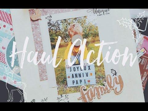 Haul Action : Papeterie, Scrapbooking (Octobre 2017) ♥