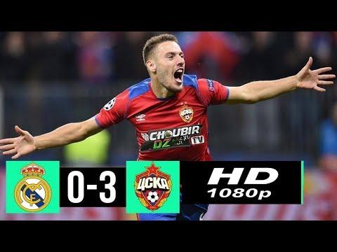 Real Madrid vs  CSKA Moscow 0-3 Champions League 12/12/2018 HD