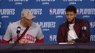 Russell Westbrook & Paul George Postgame Interview - Game 5 | April 23, 2019