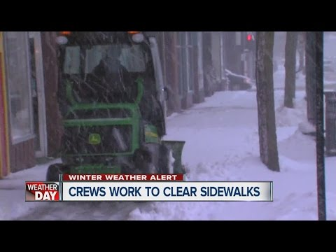 Snow is affecting travel around town