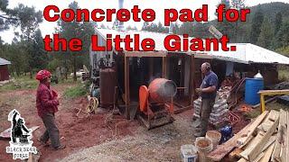 Pouring concrete - shop remodel part 5