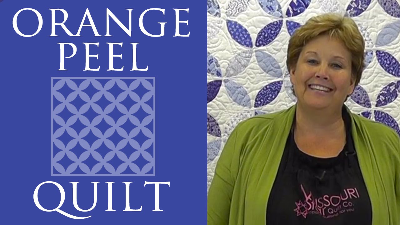 The Orange Peel Quilt Easy Quilting Tutorial With Jenny