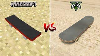 MINECRAFT SKATEBOARD VS GTA 5 SKATEBOARD - WHICH IS BEST?