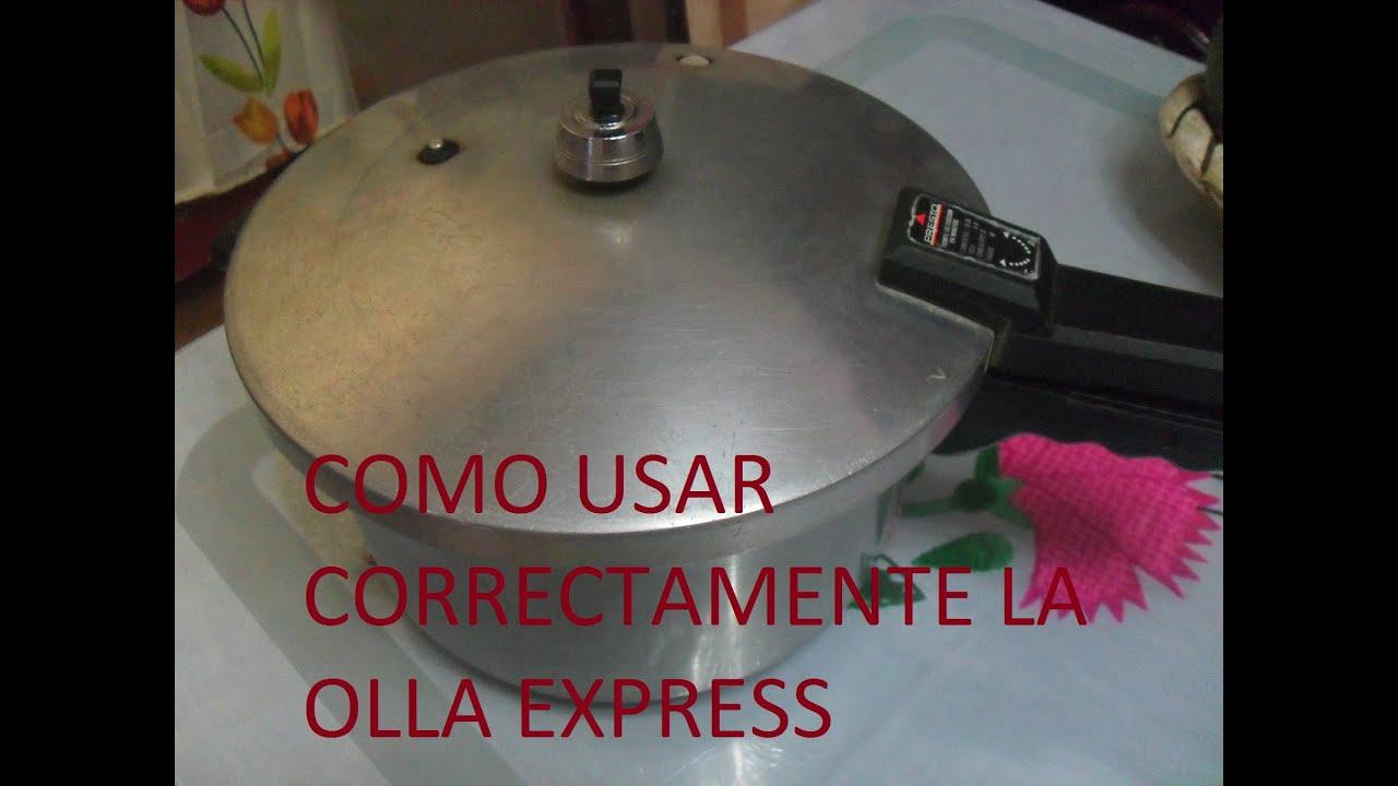 Como utilizar la olla express o de presion los angeles - Como cocer garbanzos en olla express ...