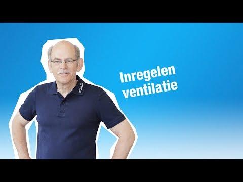 Inregelen ventilatie
