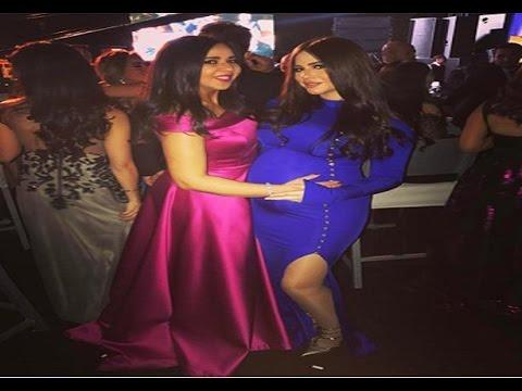 فستان إيمي سمير غانم الحامل بابن حسن الرداد يخطف الأنظار في زفاف
