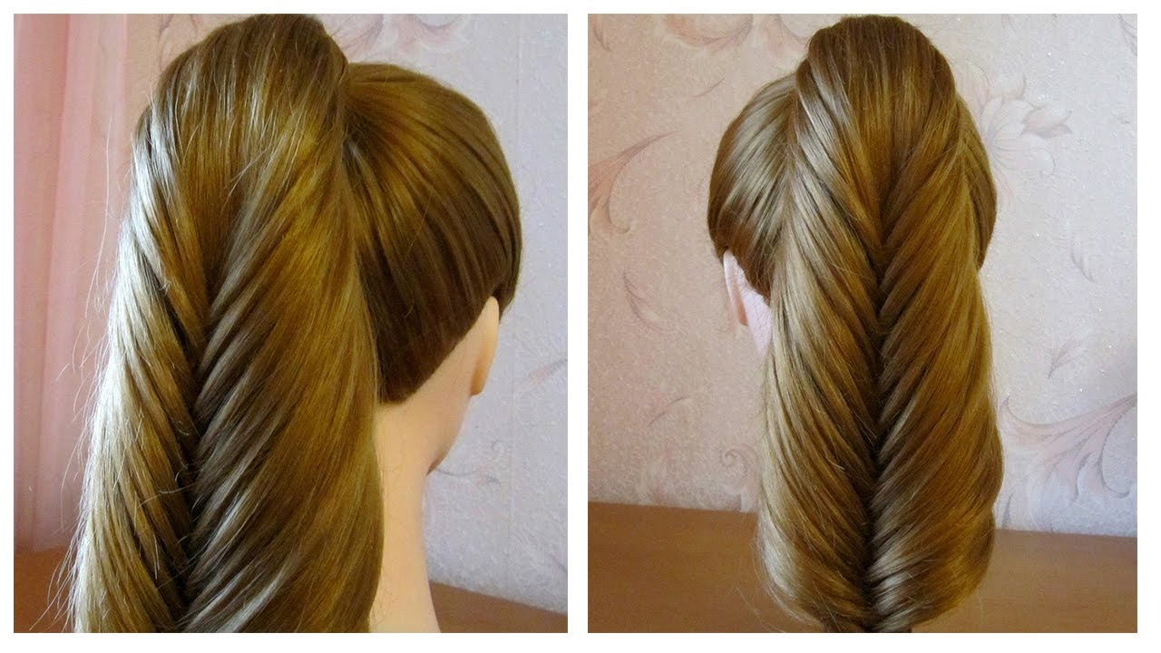 tuto coiffure simple queue de cheval originale fausse tresse pi de bl facile a faire youtube. Black Bedroom Furniture Sets. Home Design Ideas