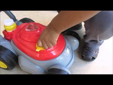 Toy Lawn Mower Push 'N' Bubble Play Day