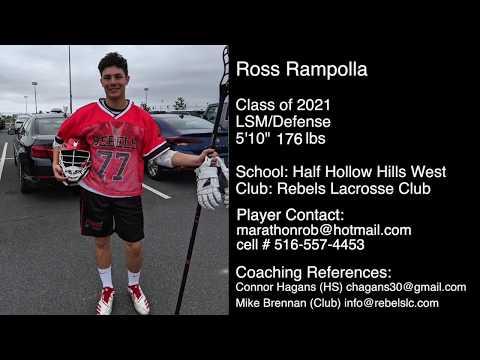 Ross Rampolla 2021 LSM/Defenseman Rebels LC LAX 2019 Fall/Philly Summer Showcase Highlights