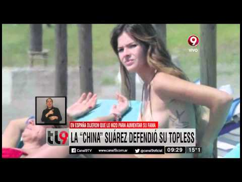 La China Suárez defendió su topless thumbnail