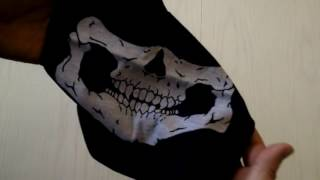 Бафф череп | Защитный бафф с рисунком черепа | Ветрозащитная маска с принятом черепа