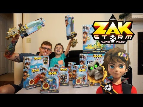 ALL Zak Storm Super Pirate toys, we got them ALL, Surprise blind bags included