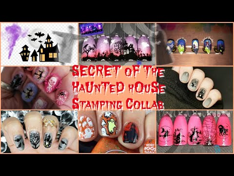 Halloween Party Series - Haunted House | Stamping Nail Art Tutorial | Facebook Group Collab ✓ thumbnail