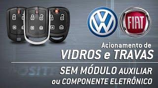 Novas Funções Pósitron 330 - Acionamento de Vidros e Travas sem Módulos Auxiliares (Volks e Fiat)