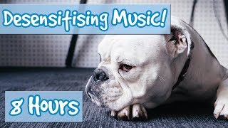 DOG DESENSITISATION MUSIC! to help train your dog, improve behaviour. Sound effects included