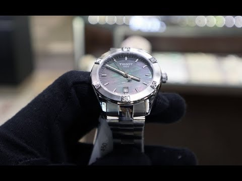 UNBOXING TISSOT PR 100 SPORT CHIC BLACK MOTHER-OF-PEARL LADIES WATCH T1019101112100