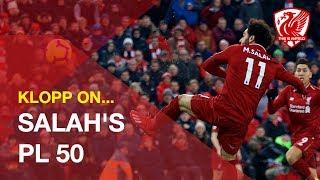 Jurgen Klopp reacts to Mohamed Salah's 50 goals in the Premier League