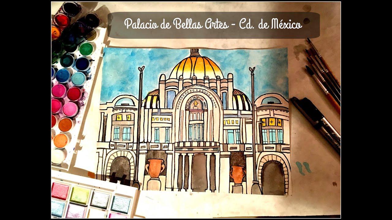 Palacio de bellas artes speed drawing c mara r pida for Palacio de los azulejos mexico