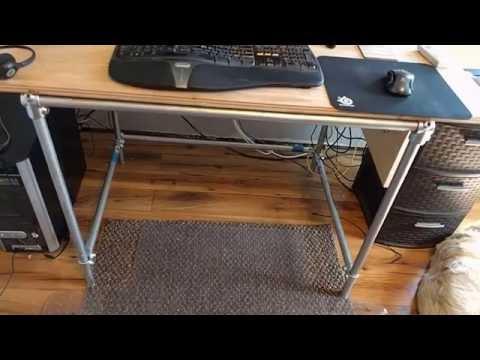 DIY Galvanized Pipe Modular Computer Desk
