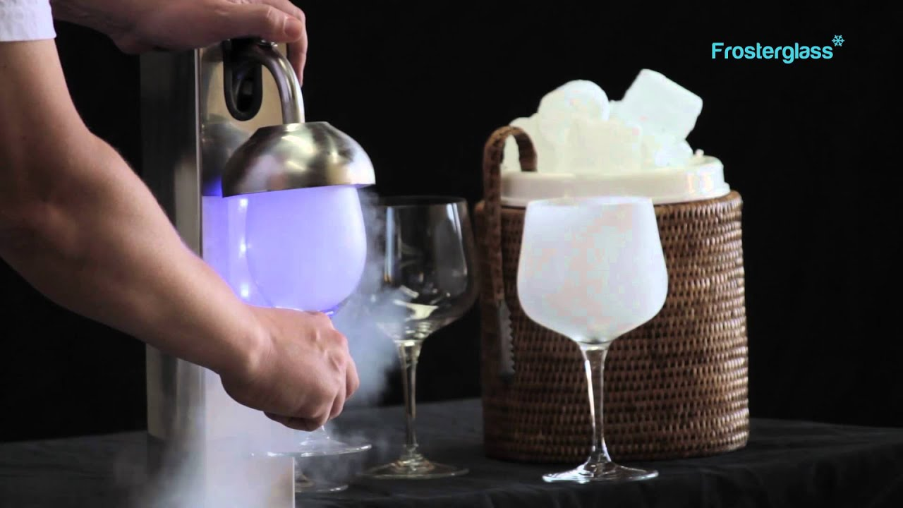Frosterglass escarchador de copas y vasos youtube for Copas y vasos para bar