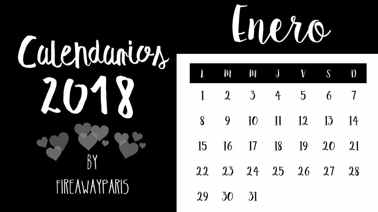 diy calendarios 2018 para imprimir gratis
