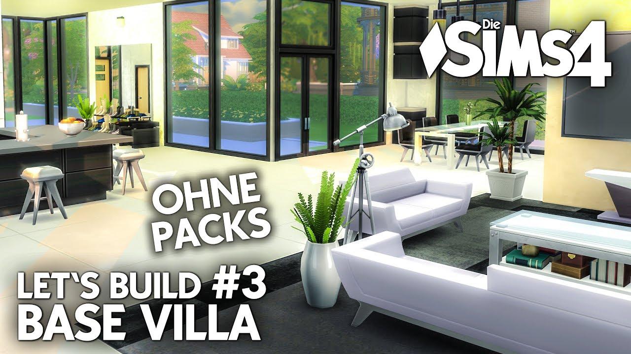 Die sims 4 haus bauen ohne packs base villa 3 for Modernes haus sims