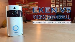 Doorbell that Watches Out for You! EKEN Video Doorbell V5 Unboxing Test Review Footage