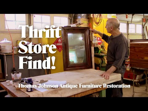 Repairing A Thrift Store Mirror - Thomas Johnson Antique Furniture Restoration