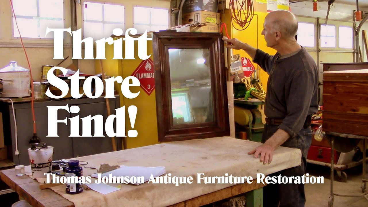 Repairing A Thrift Store Mirror Thomas Johnson Antique Furniture