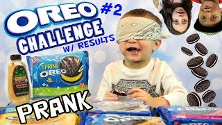 Chase takes the OREO CHALLENGE!! SPICY Mustard Joke + THE RESULTS!! FV Family Vlog # 2