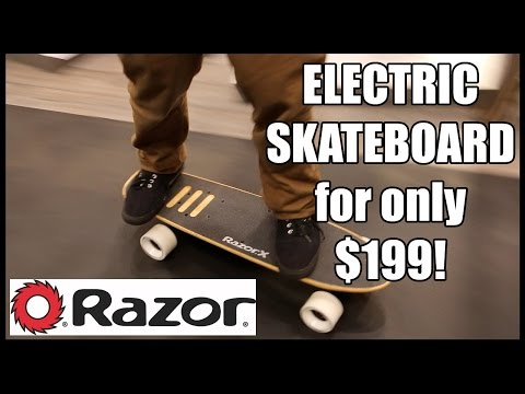 NEW Razor X Electric Skateboard and Longboard | Toy Fair