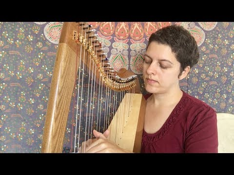 Celtic Harp Instrumental | Intuitive Healing Music on Lewis Creek Jessie Therapy Harp