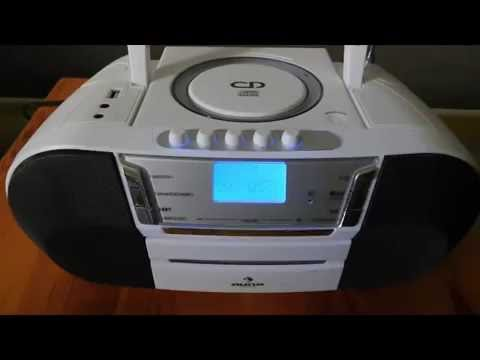 Test Boombox Radiocassette USB CD auna Jetpack