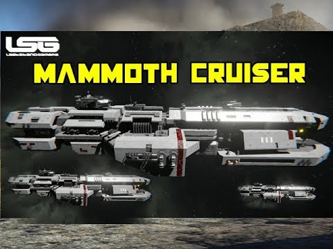 Massive Ship AHAB Cruiser - Space Engineers