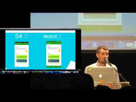 Droidcon NYC 2015 - Material design everywhere using the Android Support Libraries