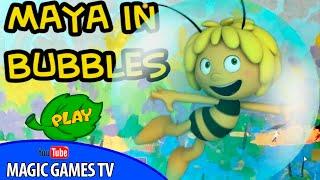 Пчелка Майя игра для детей | MAYA IN BUBBLES GAME