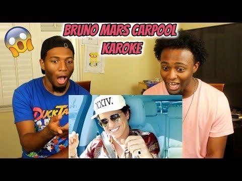 Bruno Mars Carpool Karaoke (REACTION)