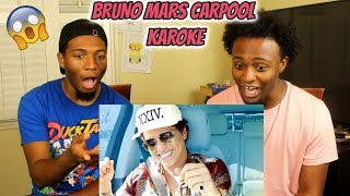 Bruno Mars Carpool Karaoke (REACTION)