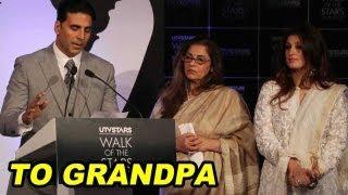 Akshay Kumar's Son Misses Grandpa Rajesh Khanna