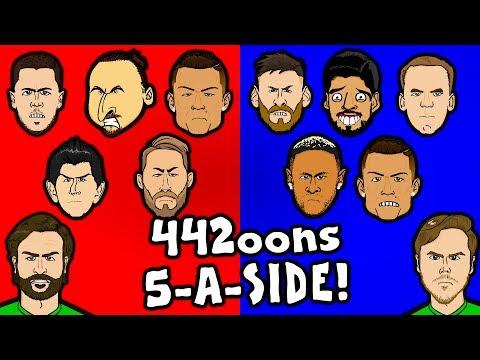 ⚽️442oons 5-A-SIDE⚽️ Feat. Ronaldo, Messi, Suarez, Neymar, Stobbart And Dunscombe!