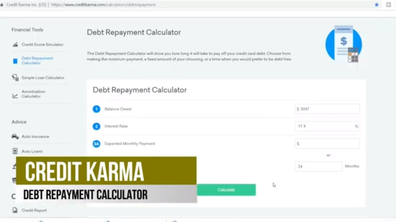 CREDIT KARMA DEBT REPAYMENT CALCULATOR 2019, CREATE A PLAN TO REDUCE INTEREST PAYMENTS