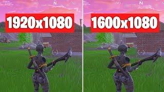 1920x1080 vs 1600x1080 ll CUAL es MEJOR? ll Fortnite: Battle Royale