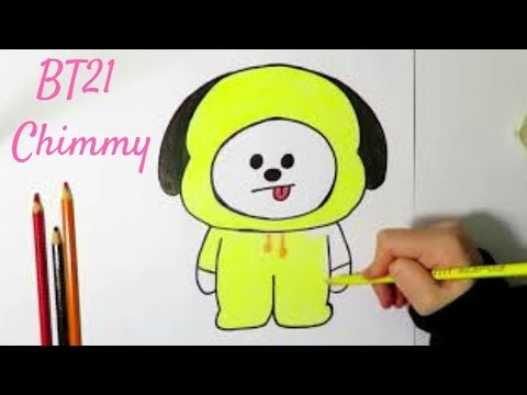 Drawing Bt21 Chimmy How To Draw Easy Step By Step Drawing Tutorial