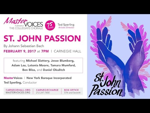 Sing Along with Bach's St. John Passion in English at Carnegie Hall!