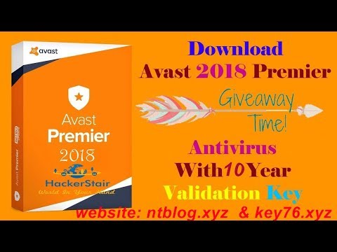 Download Avast Premier 2018 Antivirus Full Version With 3 Years Validation Key Till 2027