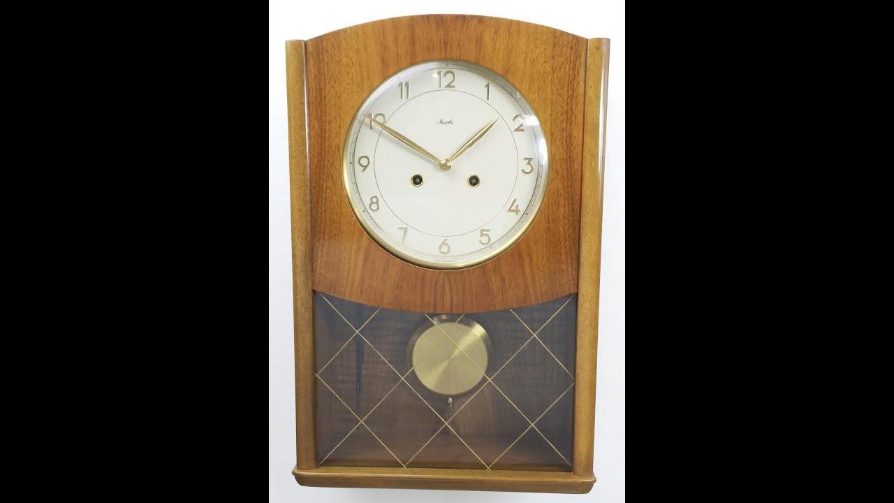 Clock Strike Chime Sound Mauthe Pendulum Wall Mount 1