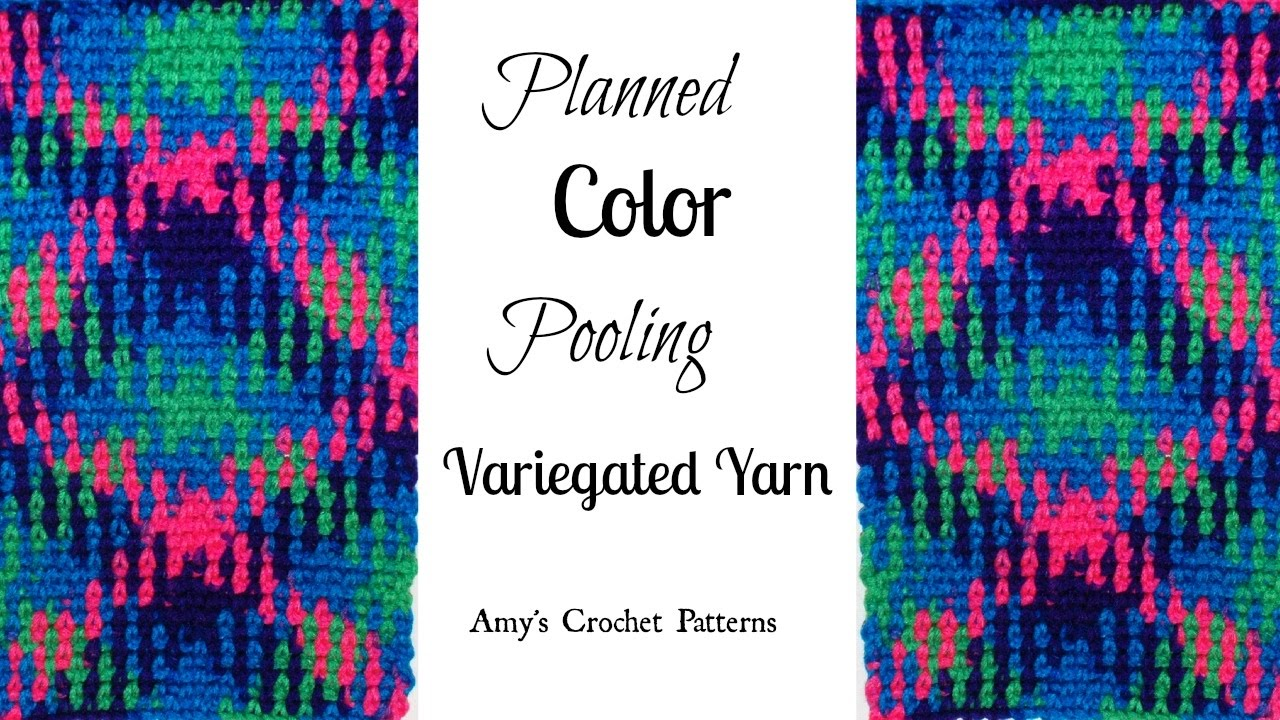 Crochet Planned Color Pooling Tutorial Crochet Jewel Youtube